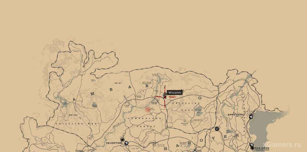 The location of the tomb of Morgan in the game RDR 2