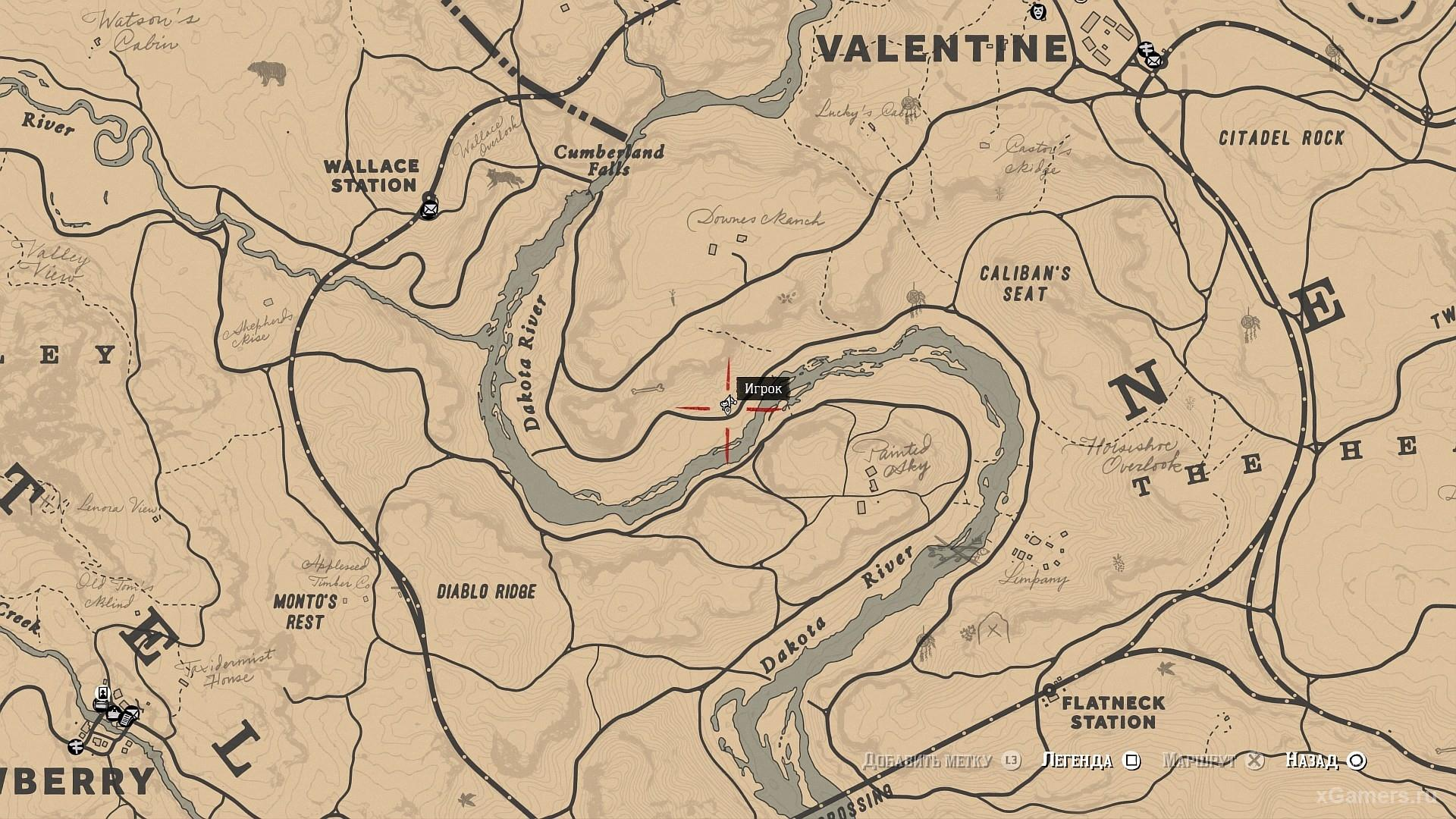 Mark on the map where you can find mushrooms in the game RDR 2