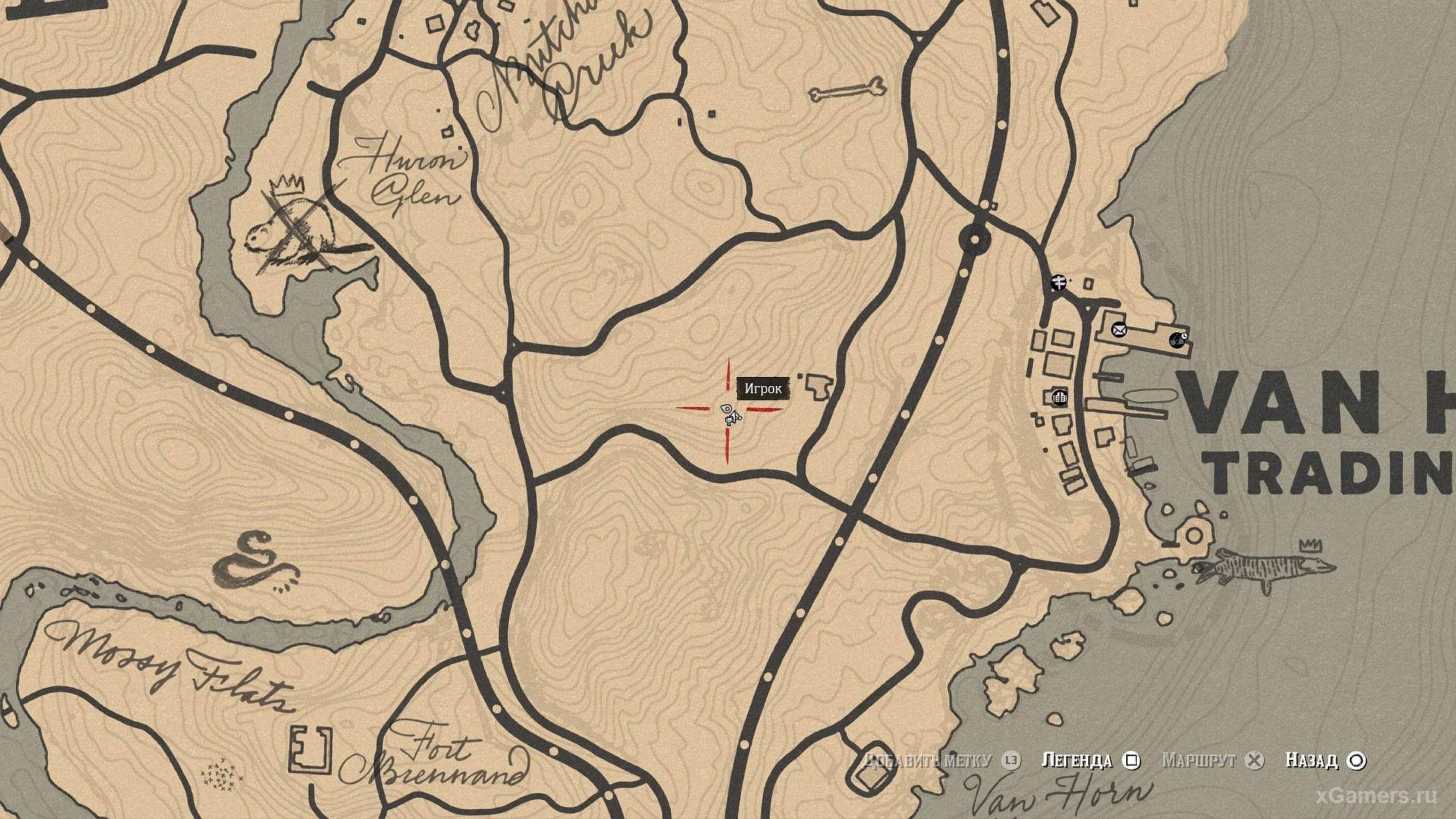 Mark on the map where the golden currant grows RDR 2