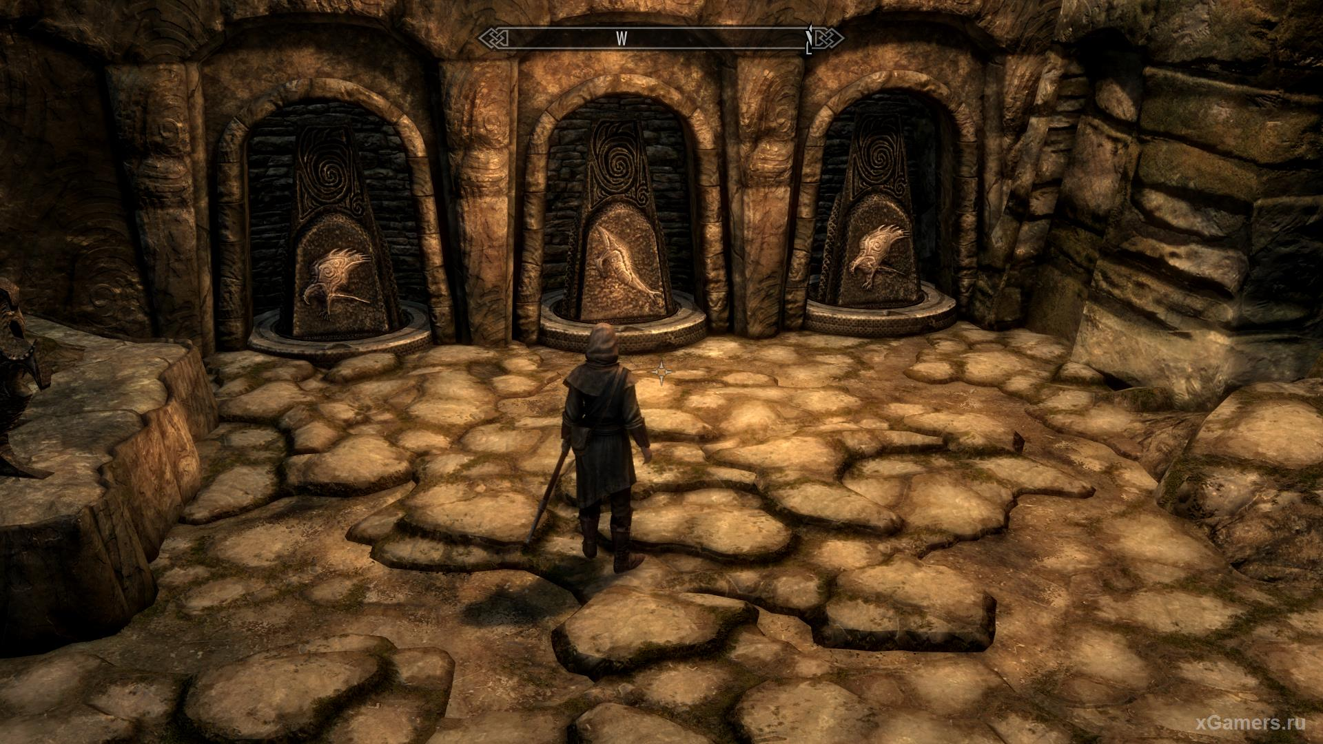 how to activate columns in Skyrim Windy Peak