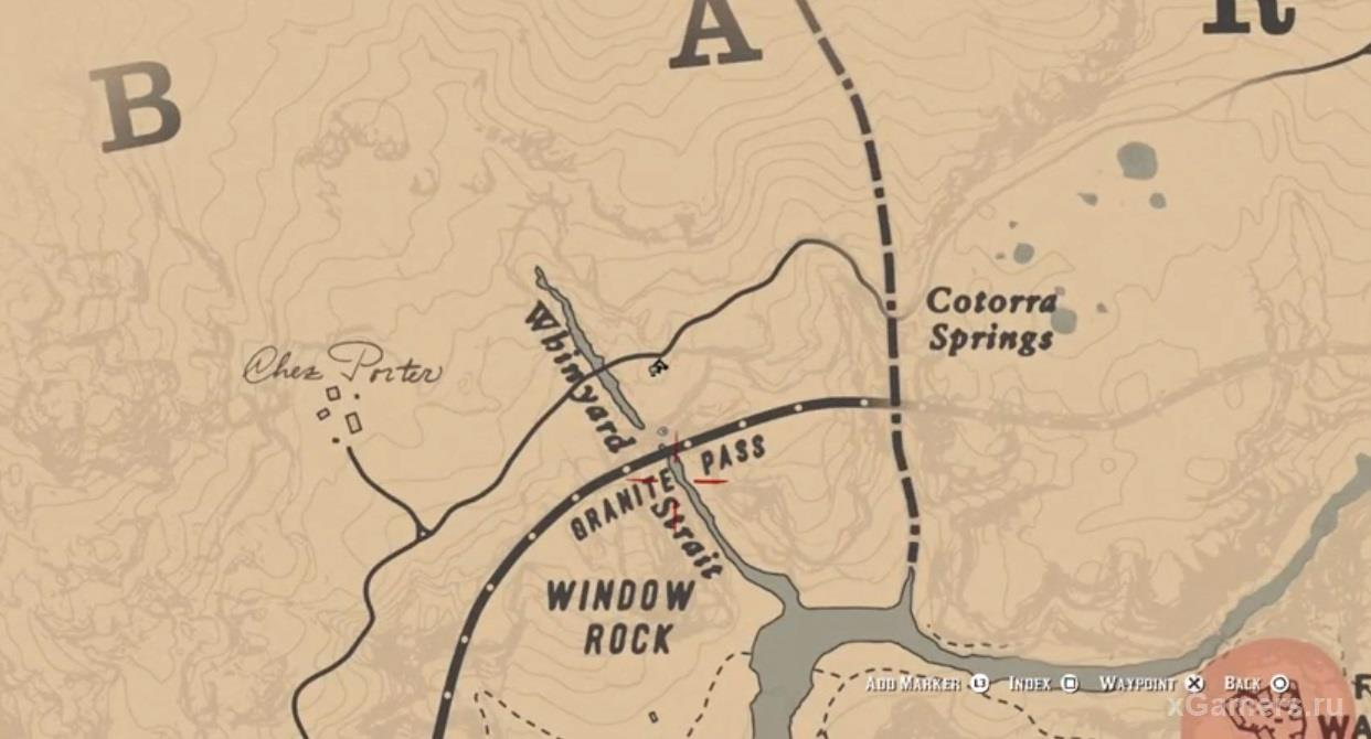 The location of the Nevada Hat - RDR 2
