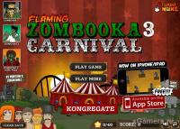 Flaming Zombooka 3: Carnival  - flash game online free