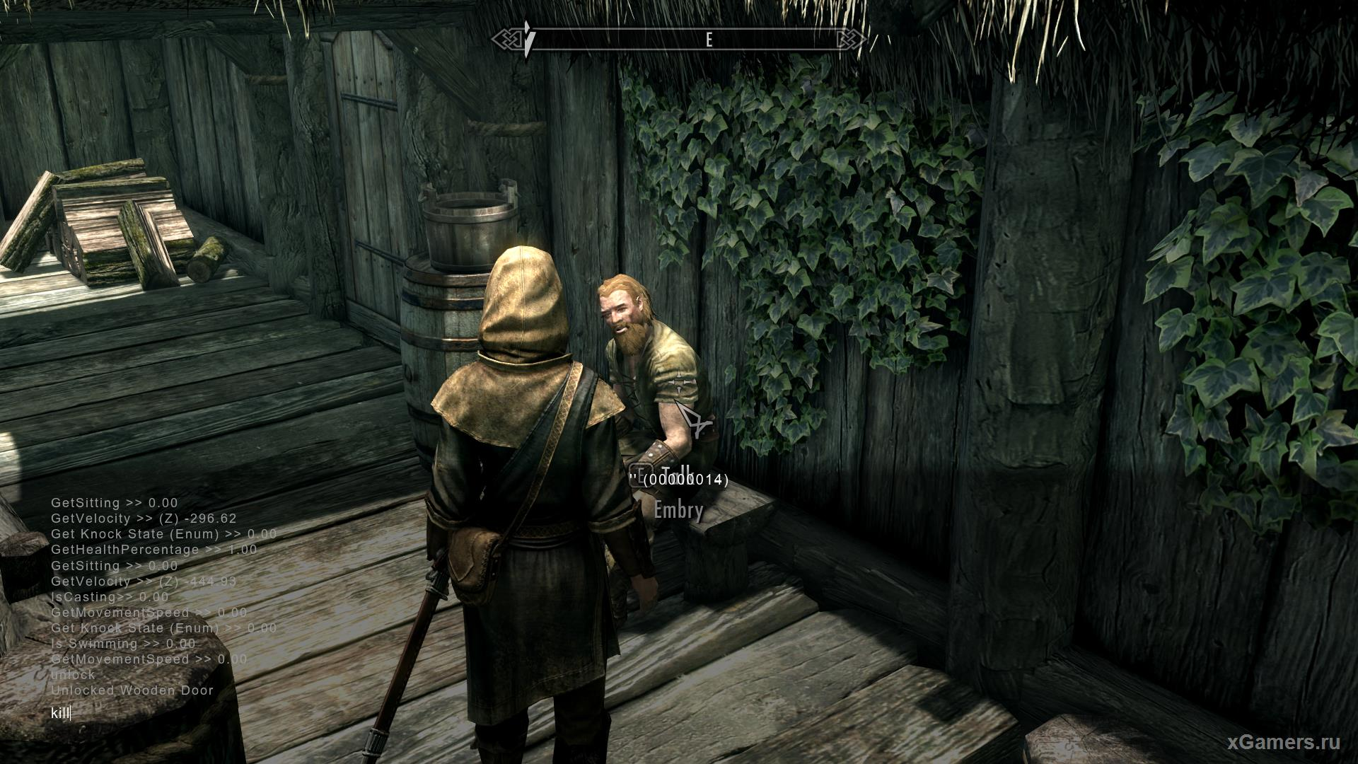 Use cheats in Skyrim to defeat the enemy