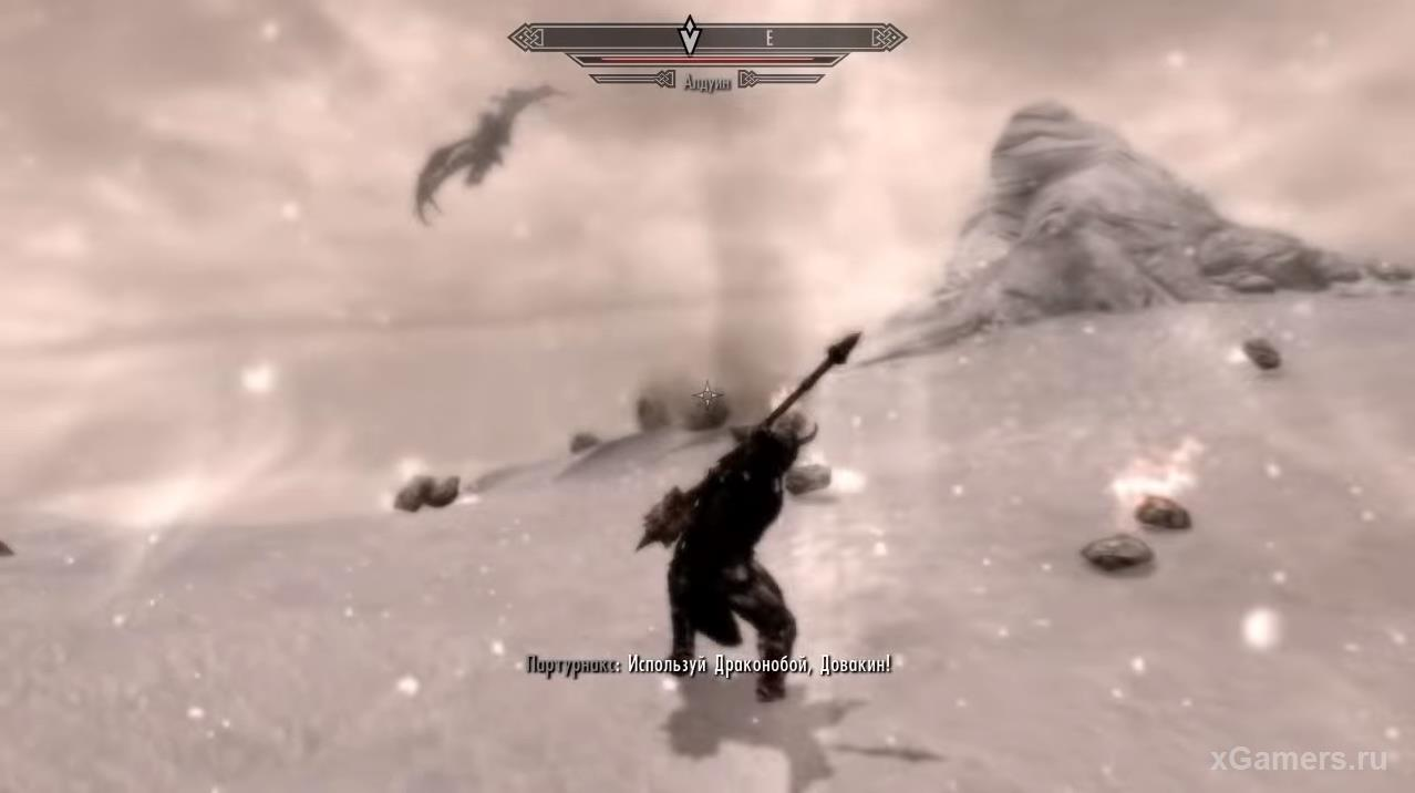 Fight with Alduin - Skyrim