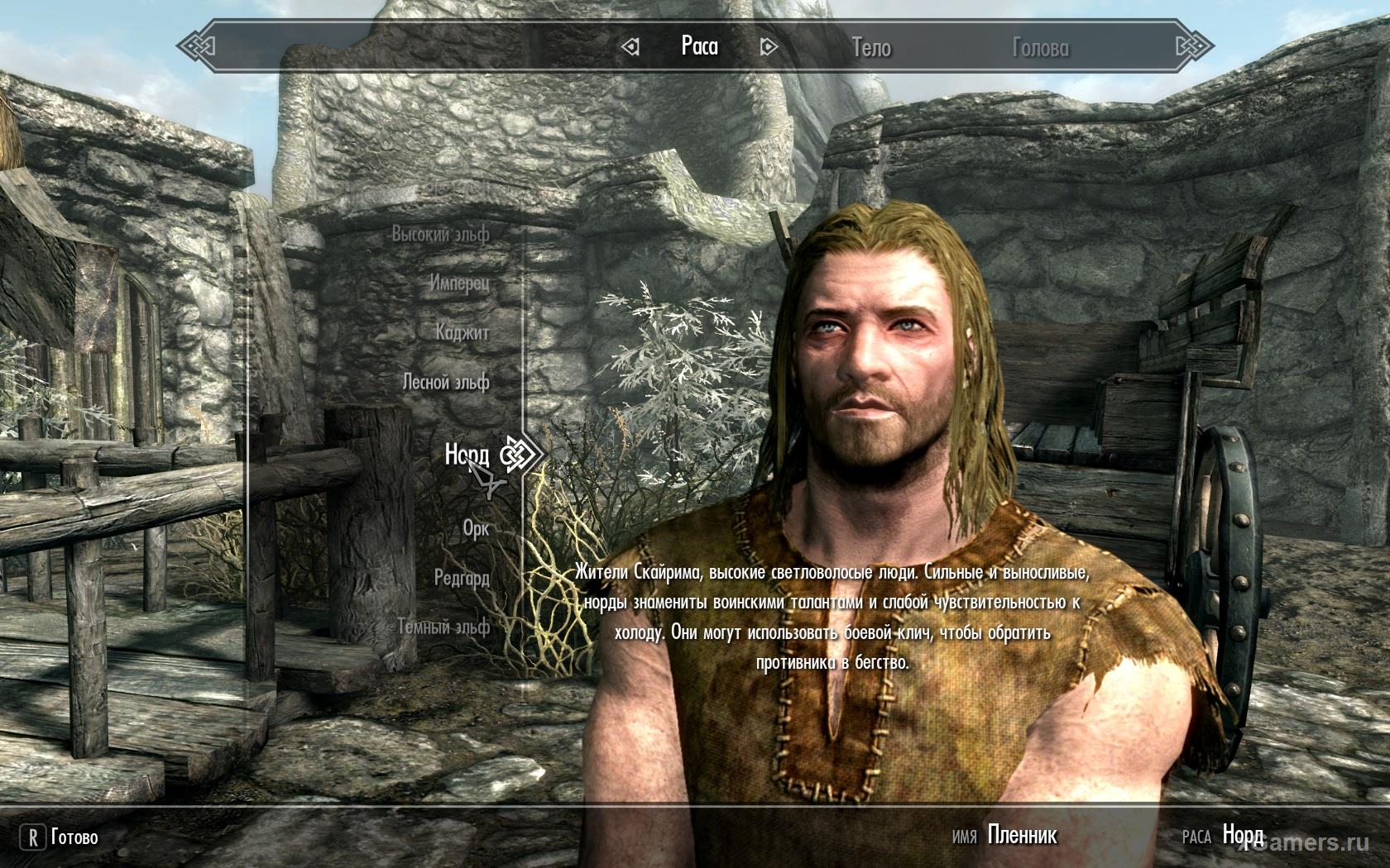 Race - Nords in the game Skyrim
