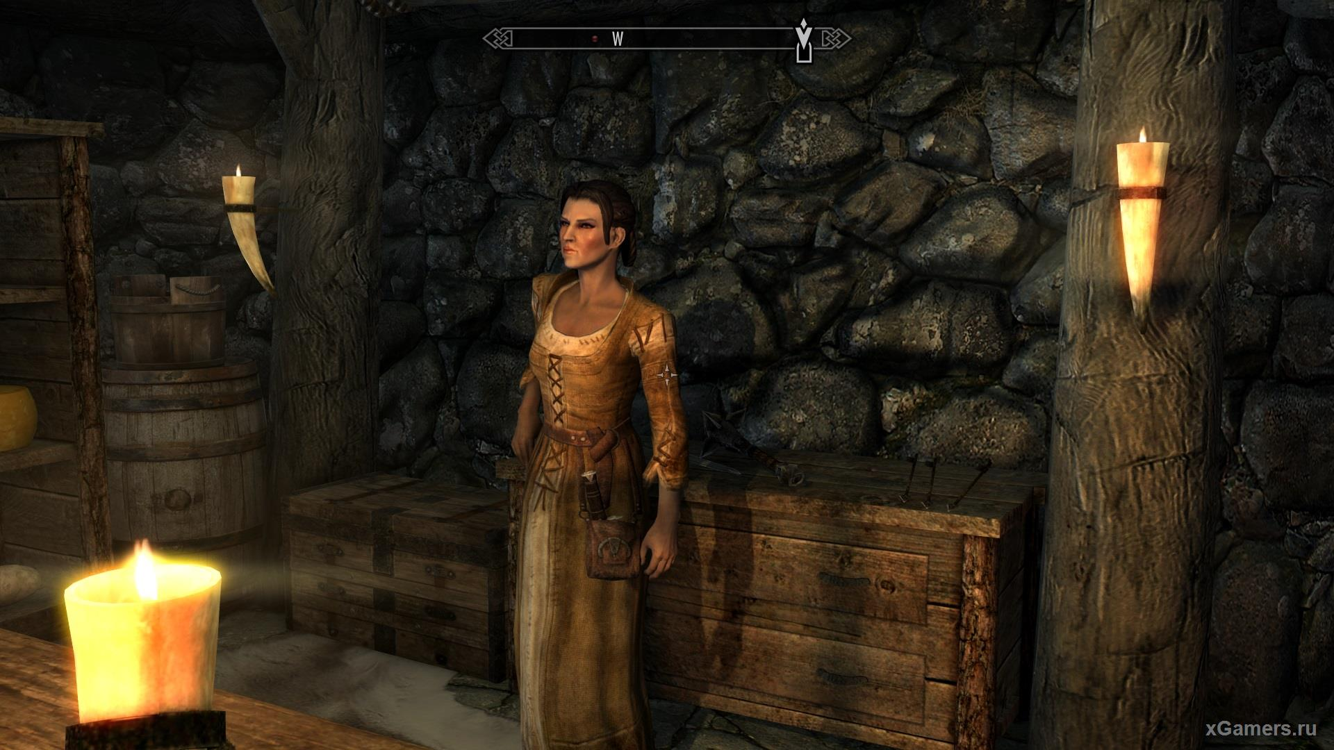 Camilla - a great companion of Dovakin in the game Skyrim