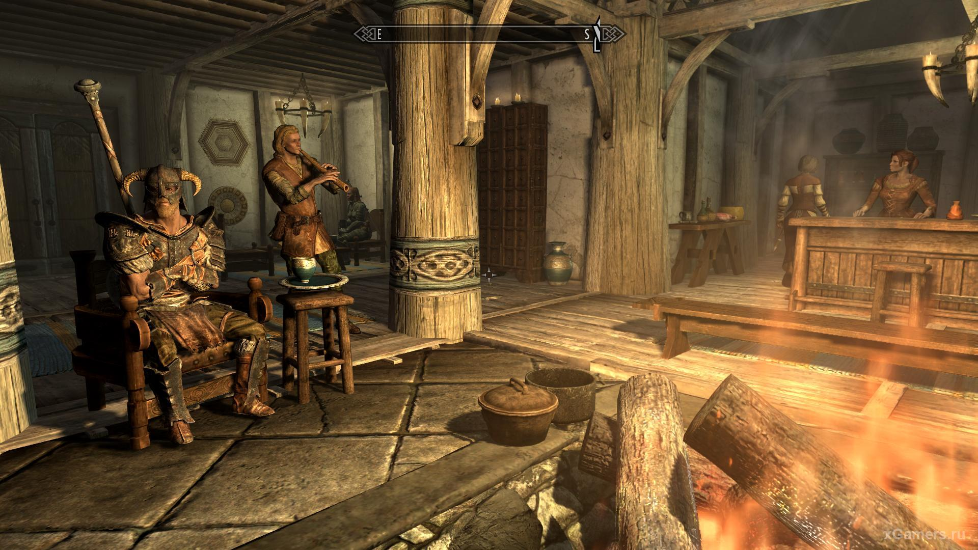 One of the mercenaries in the tavern in the game Skyrim