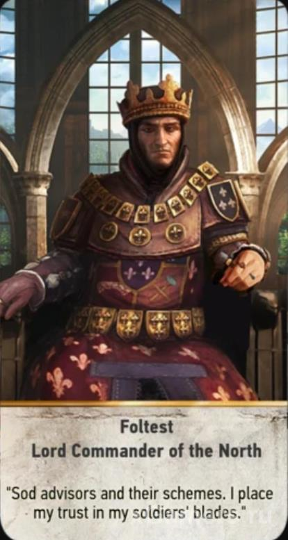 Foltest Lord Commander of ther North - Gwent cards