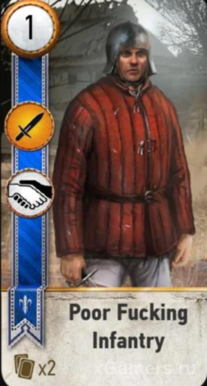 Poor Fucking Infantry - Gwent Cards