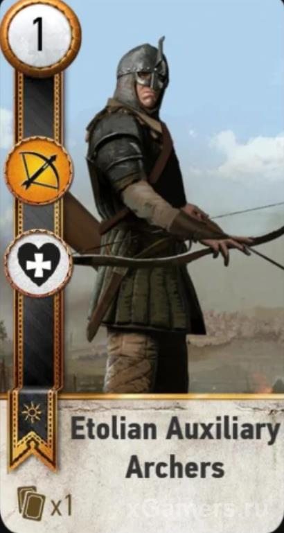 Etolian Auxiliary Archers - Gwent Cards