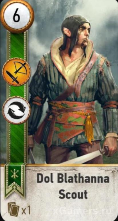 Dol Blathanna Scout - Gwent Cards