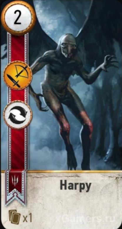 Harpy - Gwent Cards