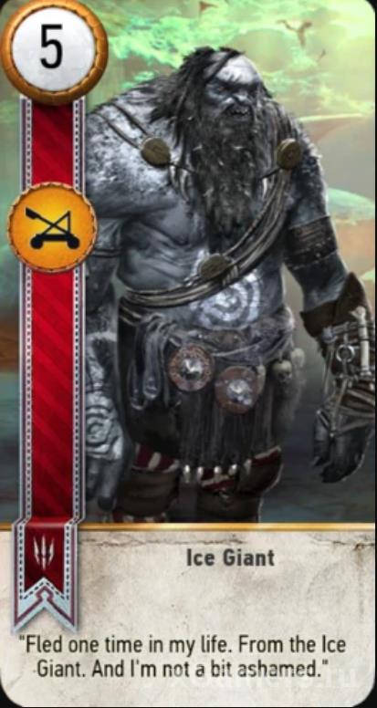 Ice Giant - Gwent Cards