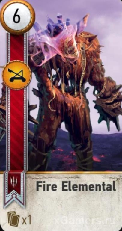 Fire Elemental - Gwent Cards