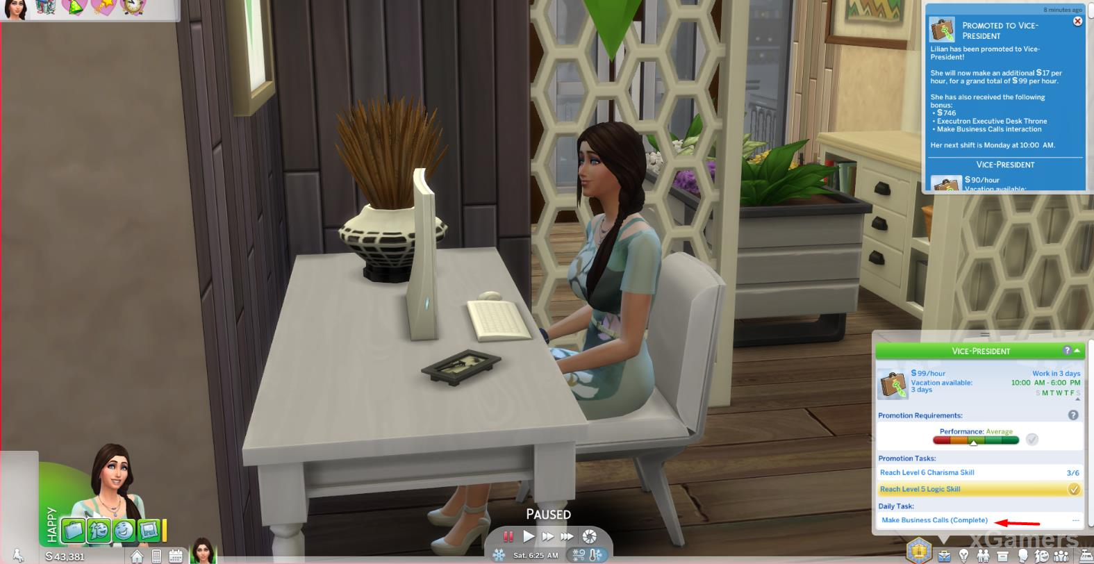 The Sims 4 Business Career: Vice-President