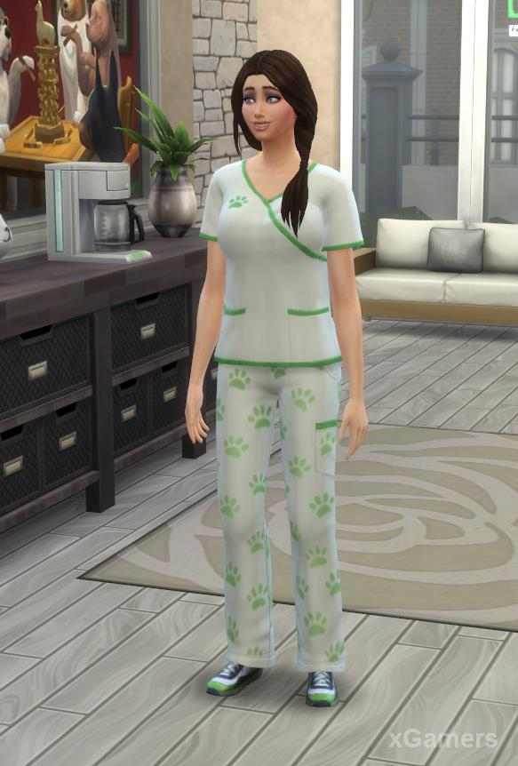 New Uniform on Sims - Vet Clinic