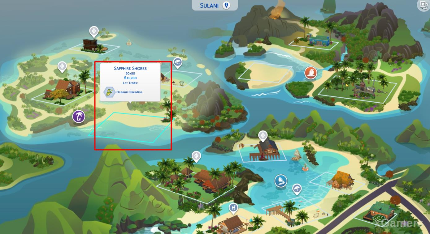 Example of choosing a site: Sapphire Shores