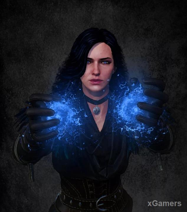 Character Yennefer in game The Witcher 3