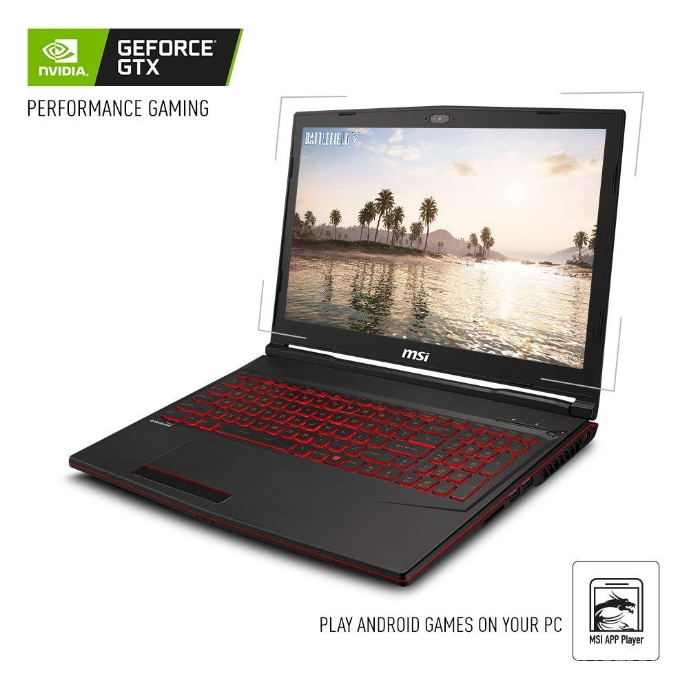 "MSI GL63 8SC-059 15.6"" Gaming Laptop, Intel Core i7-8750H, NVIDIA GeForce GTX1650, 8GB, 256GB"