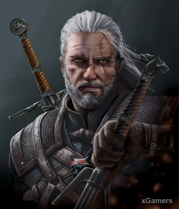The main characters in the game The Witcher 3 - Geralt