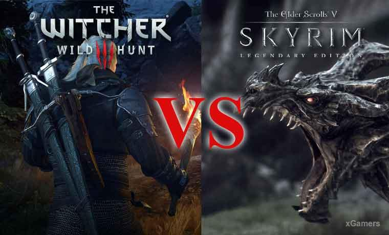Skyrim vs Witcher 3 | Comparison of the Best Games | xGamers