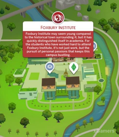 Foxbury Institute in The Sims 4: Discover University