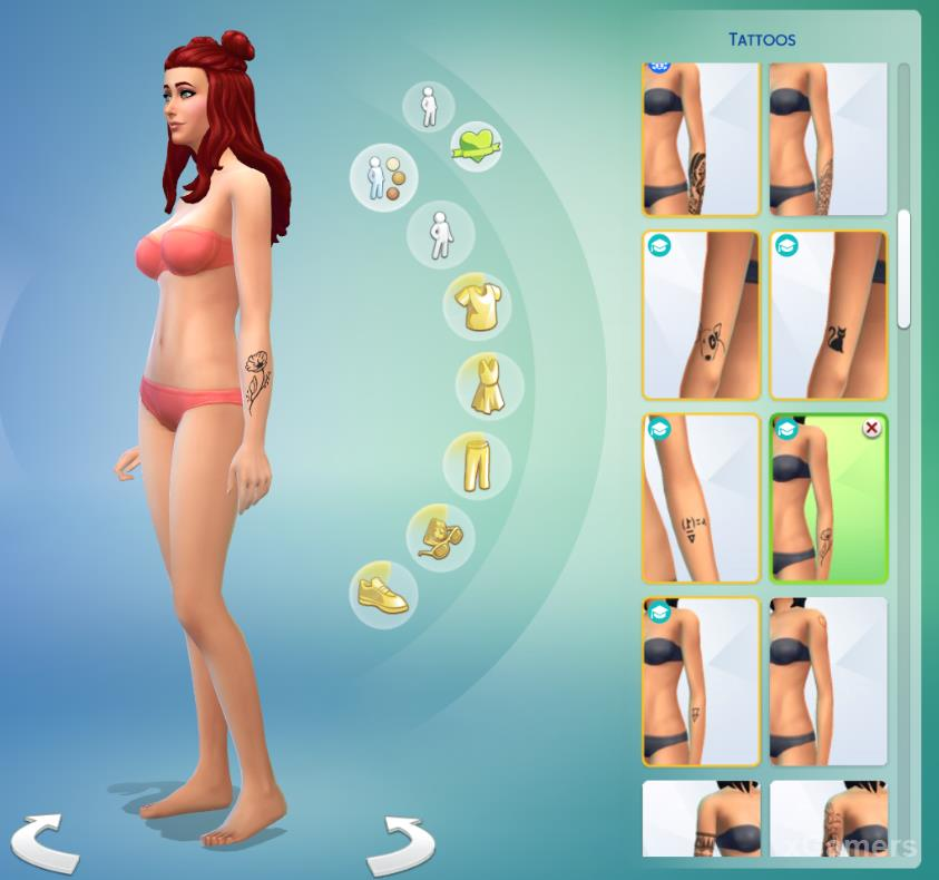New tattoo for SIM in The Sims 4: «Discover University»