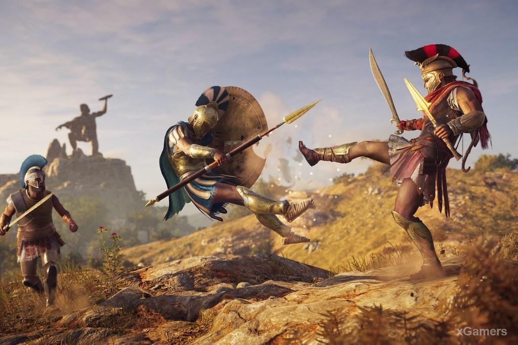 Fight scene in Assassins Creed Odyssey