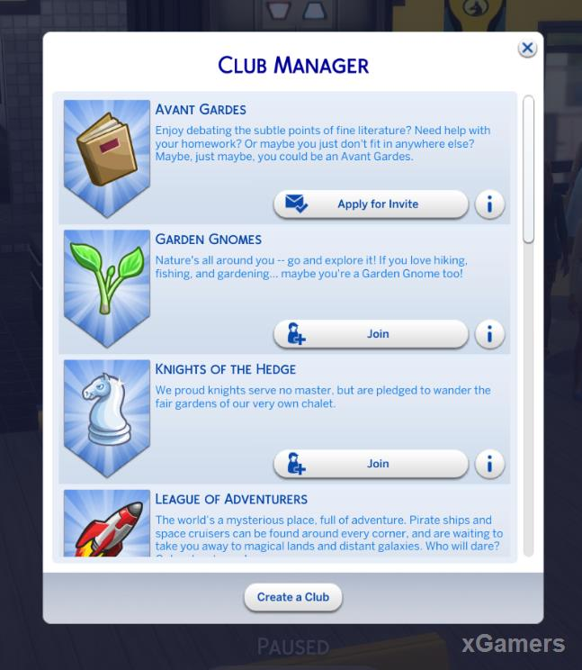 Club Manager - The Sims 4: Get Together