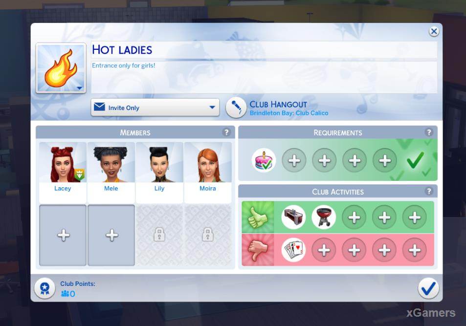 The Sims 4: Get Together - creating new Club