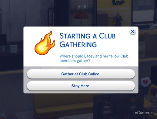 Select where should Lacey and her follow Club members gather