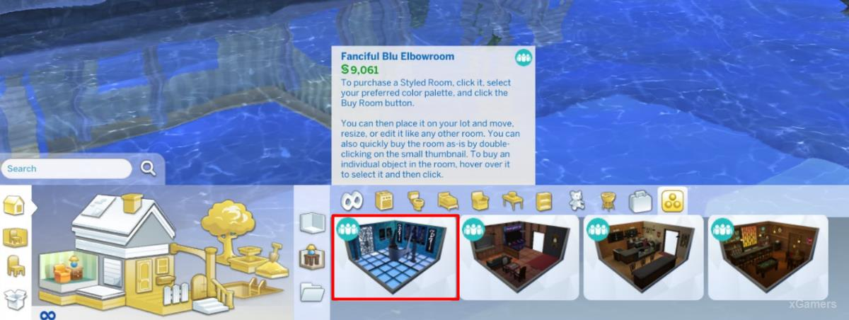 The developers have created special ready-made rooms that can be purchased in the construction mode