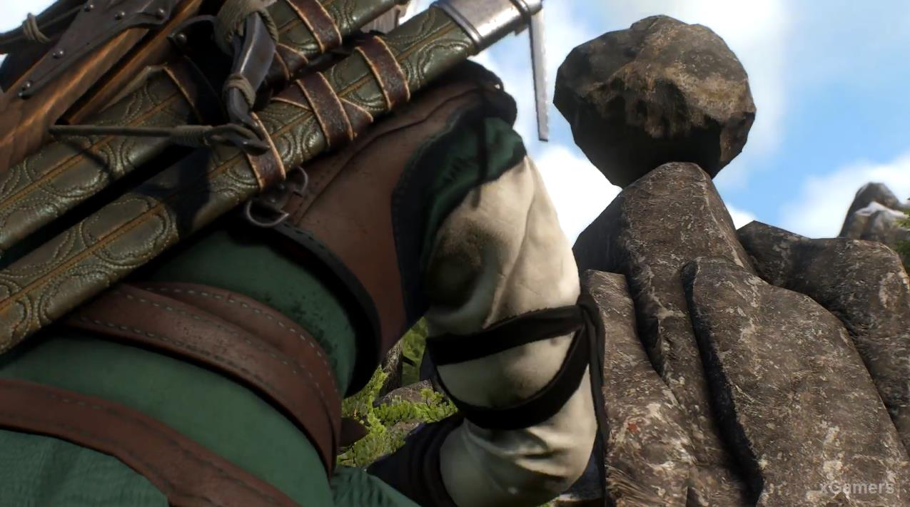 Someone throws a huge boulder at the Witcher