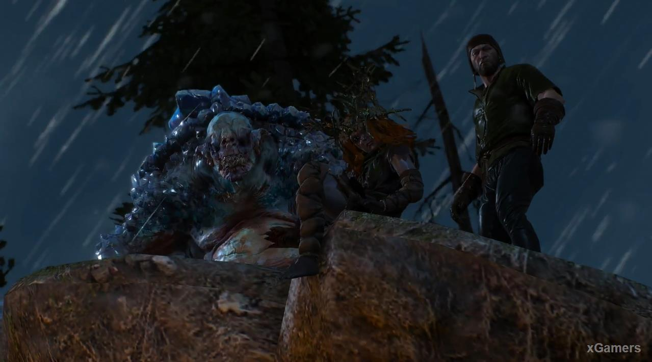 Meeting Geralt and Godling, Ice troll, Werewolf and Doppler