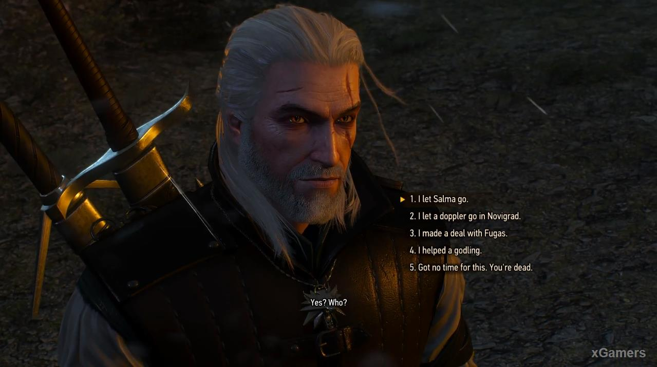 The good deeds of the Witcher not impress the werewolf