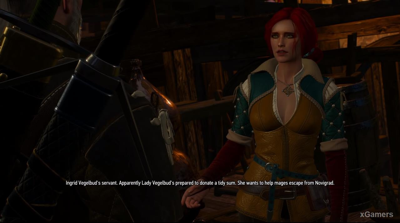 Triss has been trying to implement a plan to save the wizards from Novigrad