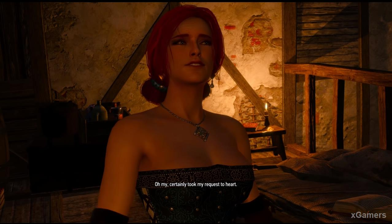 Triss will be waiting for you in her chic image