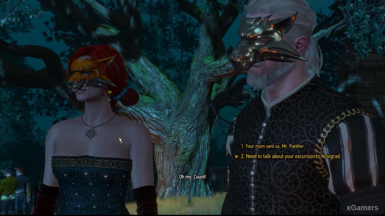 Triss and Geralt in quest: A Matter of Life and Death