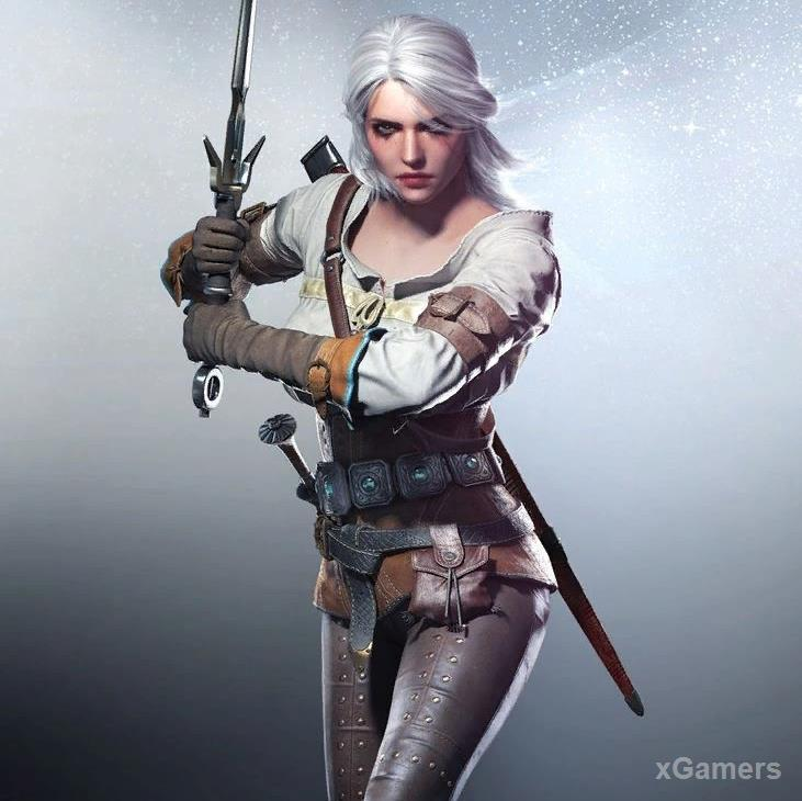Game character in The Witcher 3: Ciri