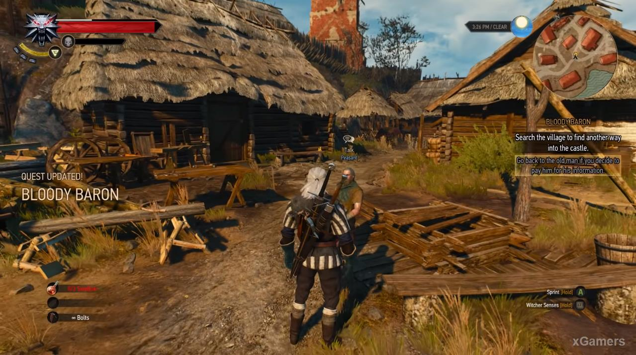 Meeting Geralt and the inhabitants of the fortress of Crow s Perch