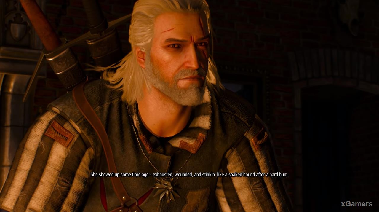 Geralt and Bloody Baron in quest