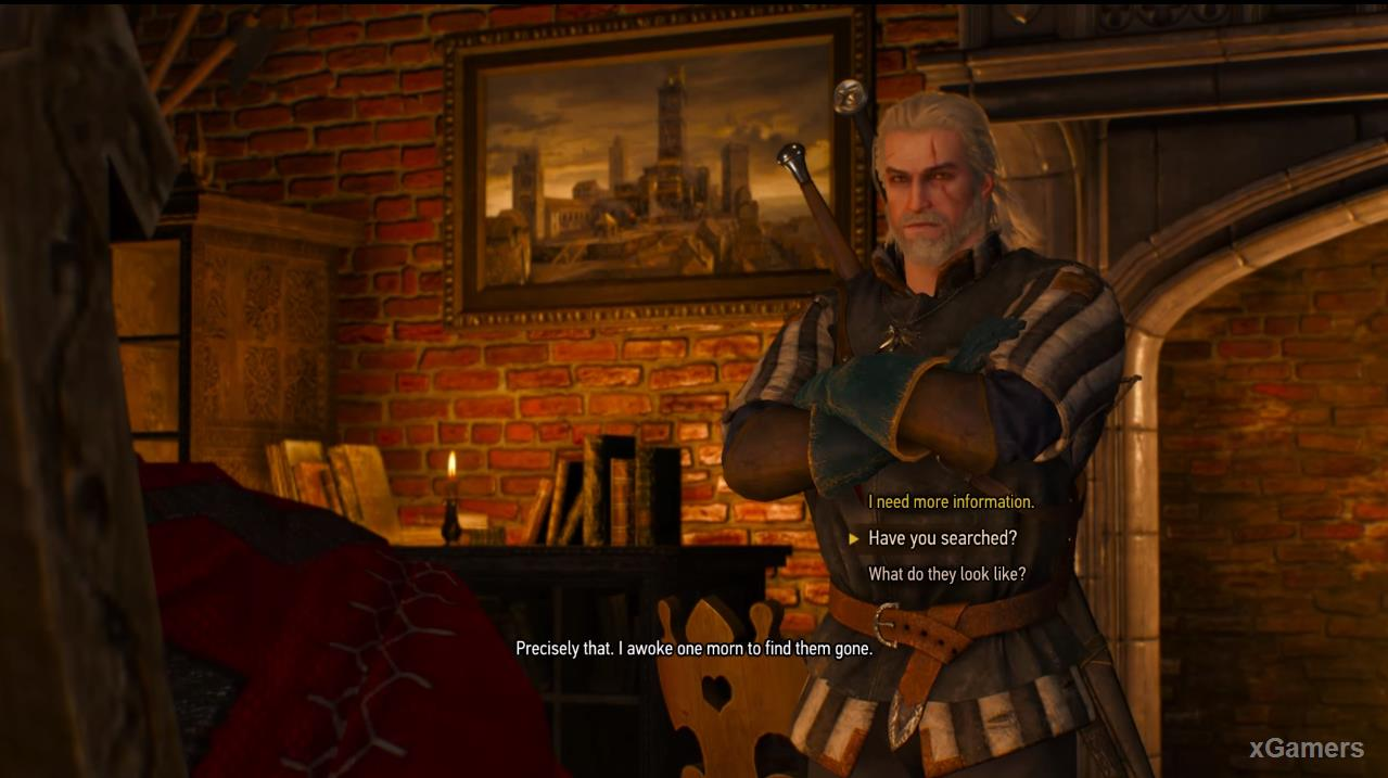 the Blood Baron ask the Witcher about a certain service