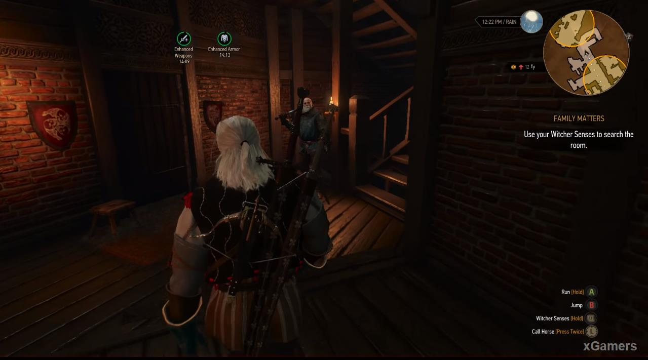 Geralt start search for Clues