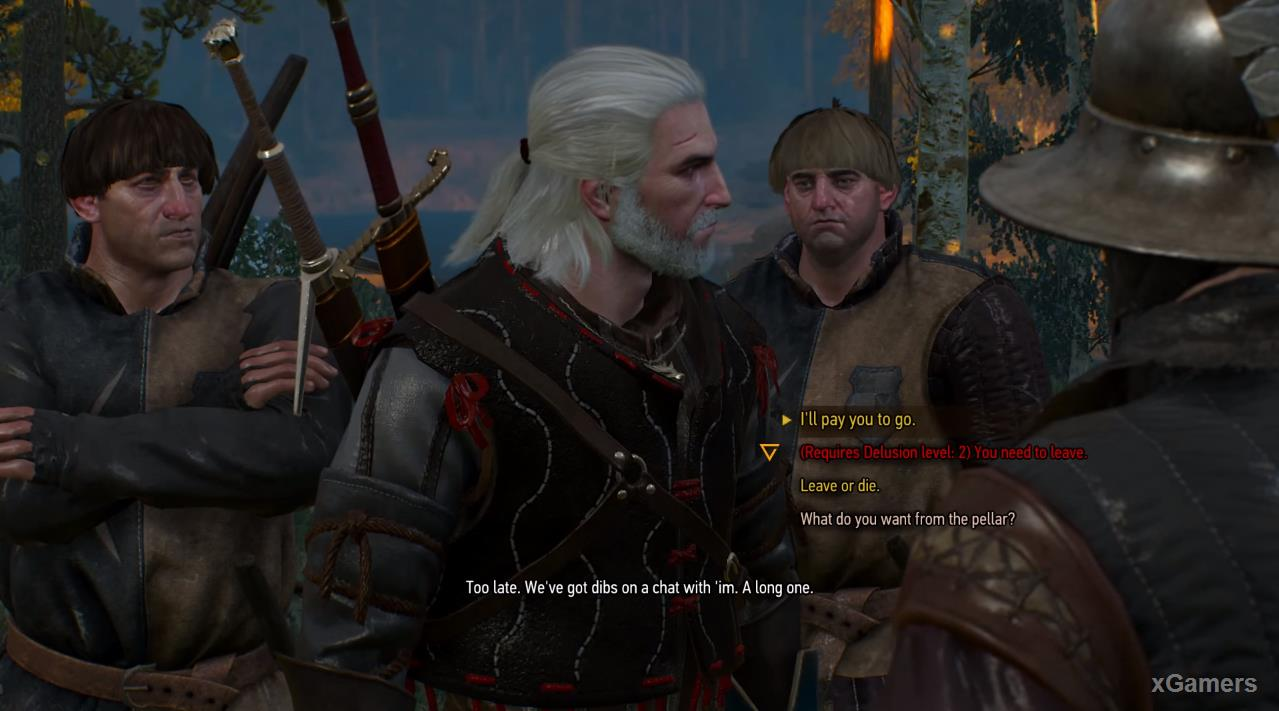 The situation is not easy and the Witcher again put before a choice