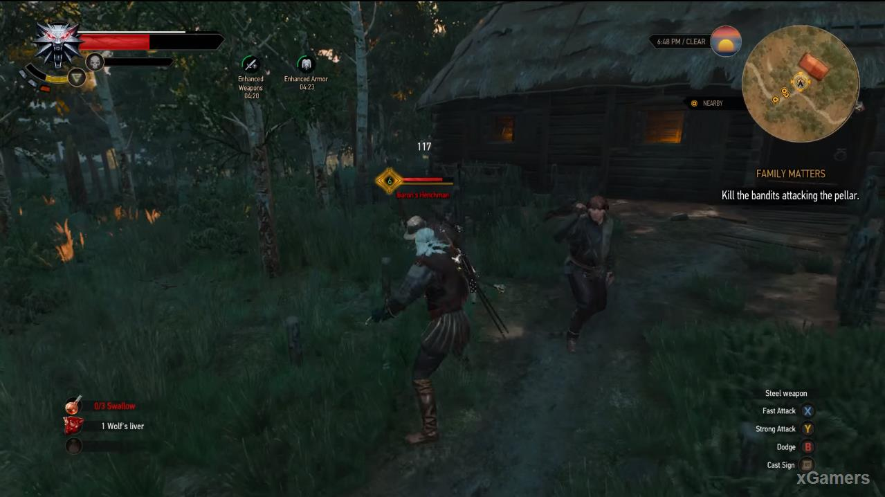 Fight Geralt and Soldiers