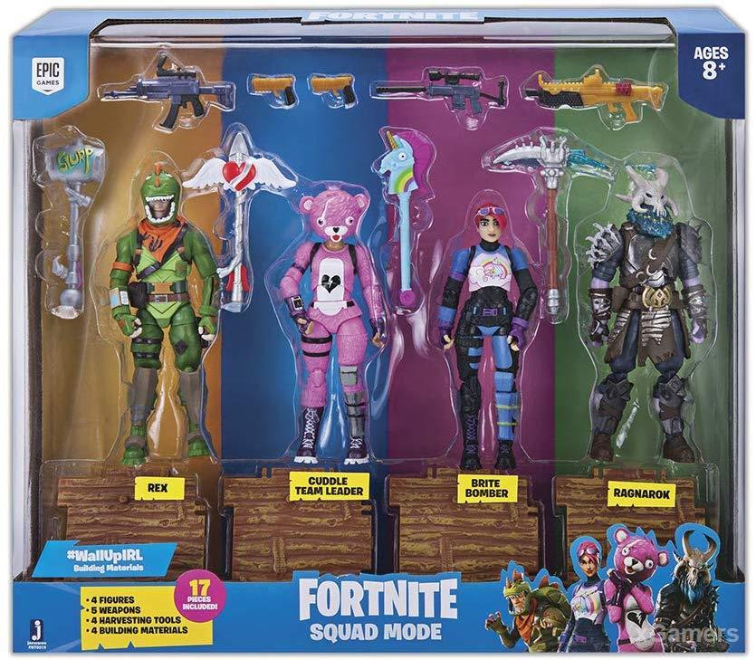 Best gifts for fortnite lovers: Fortnite Squad Mode 4 Figure Pack