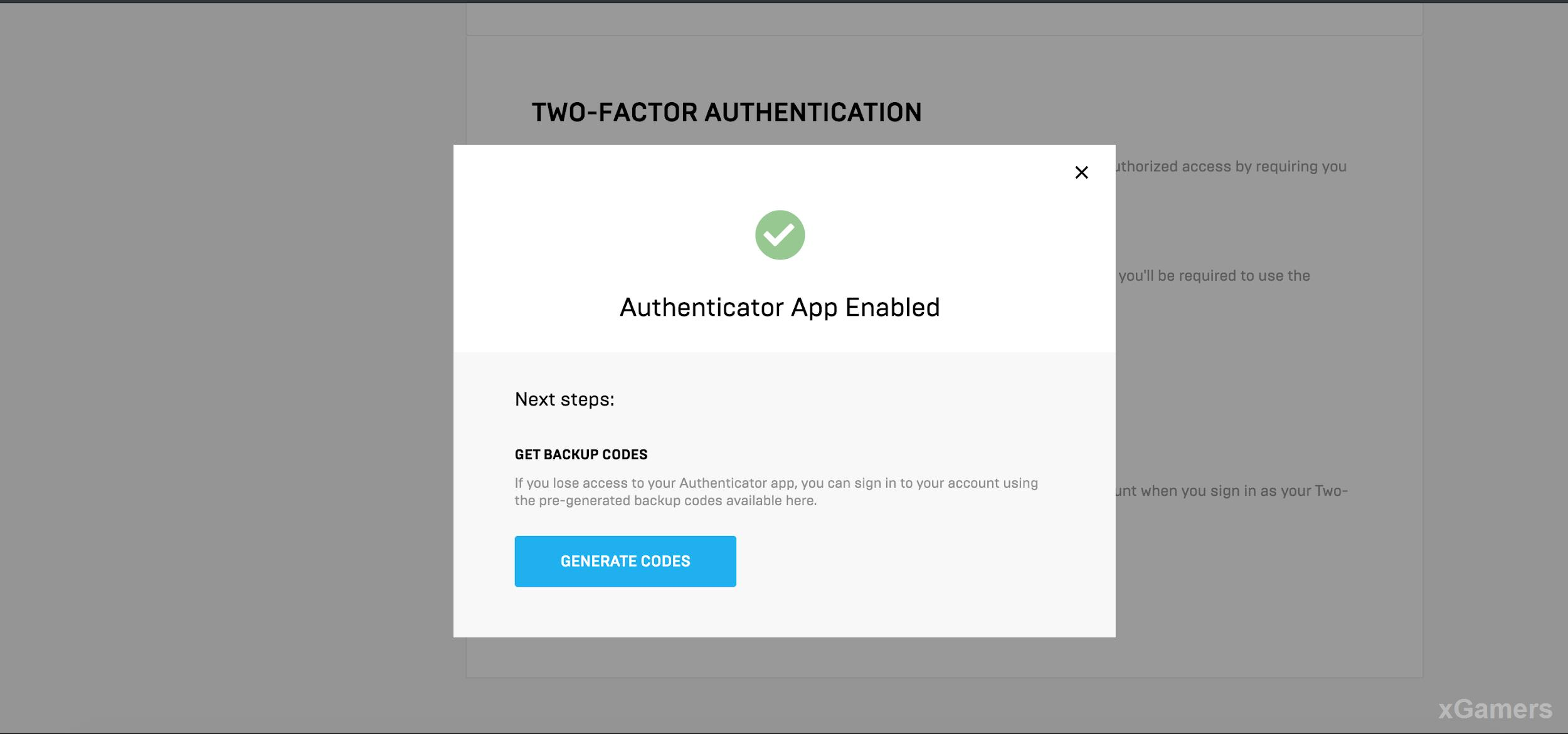 Notify: Authenticator App Enabled