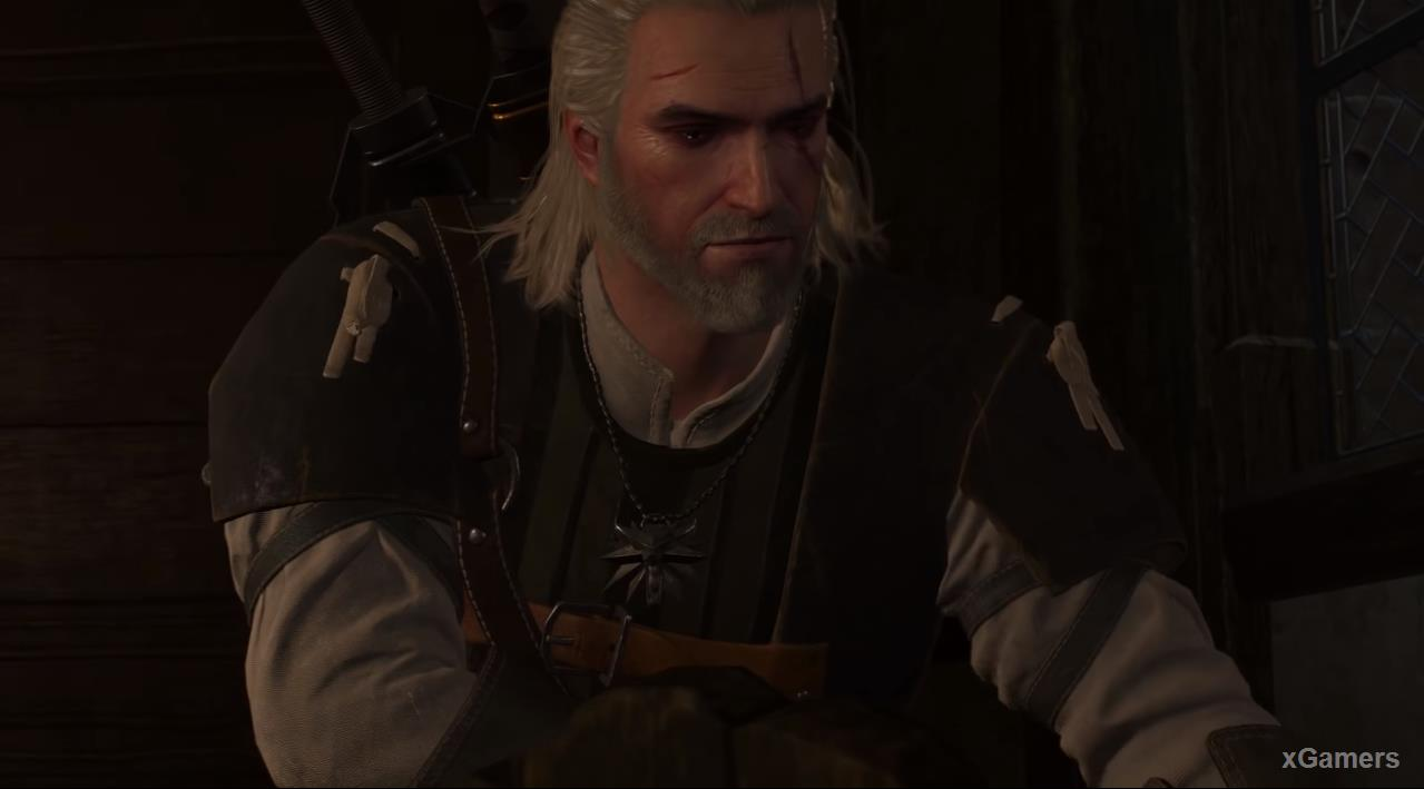 Geralt need Go down to the first floor, and find the descent to the basement
