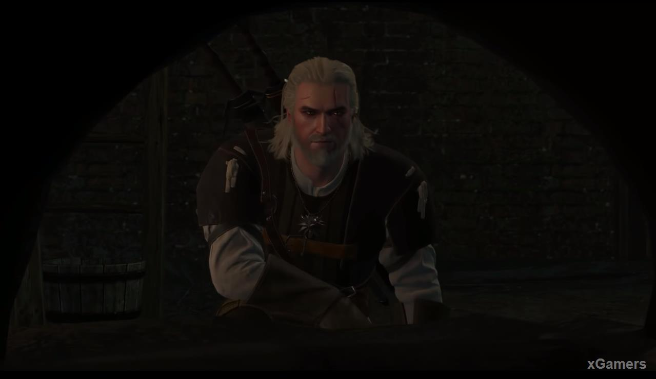 Going down Geralt will see the same stove, the drawing of which he found earlier