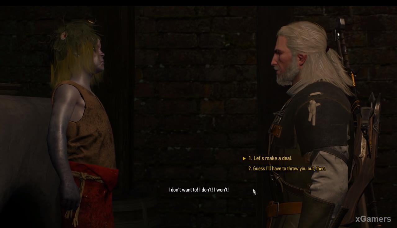 Conversation with Sarah results will not bring and here the Witcher is faced with a choice